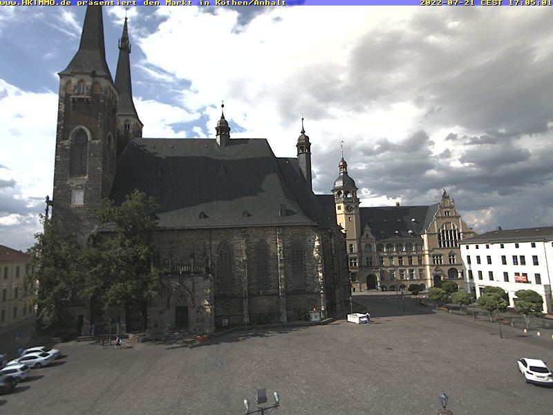 Bild der Webcam vom Marktplatz in Köthen/Anhalt