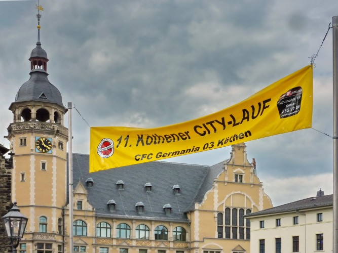 11. Köthener City-Lauf Marktplatz 2016