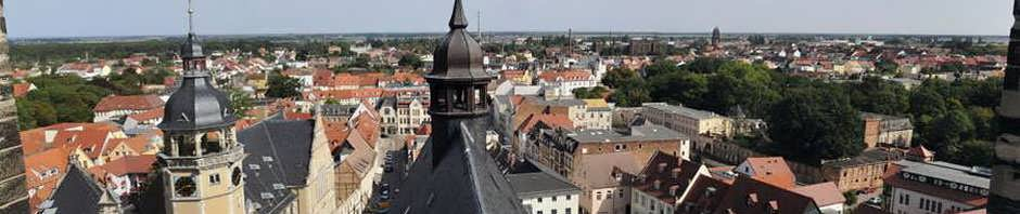 Köthen - Blick über den Stadtkern